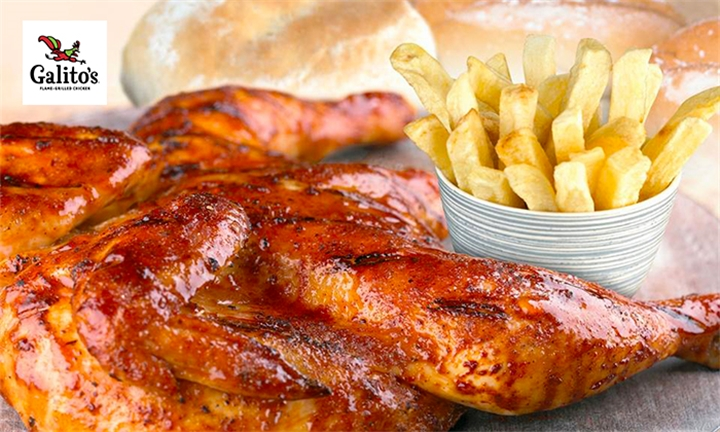 1 or 2 x Good Time Feasts for Four or Eight to Share at Galito's Flame Grill Chicken