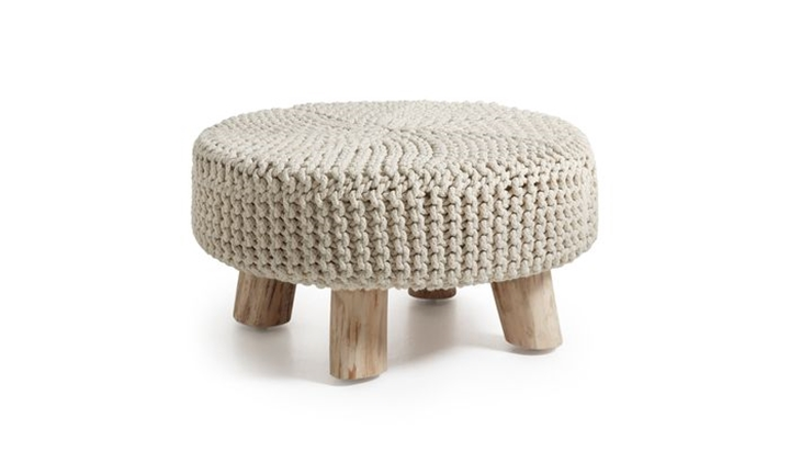 Storm Footrest Eucalyptus Wood Cotton White or Brown for R2299