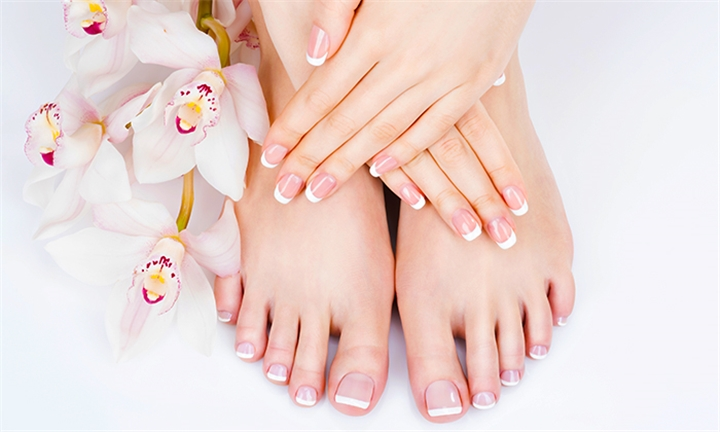 Manicure or Pedicure with Gel Overlays at Total Skin and Body