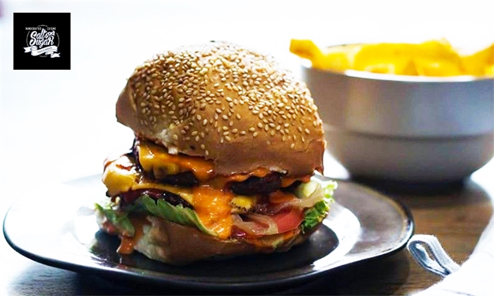Choice of Burger with Fries for up to Four at Salt and Sugar