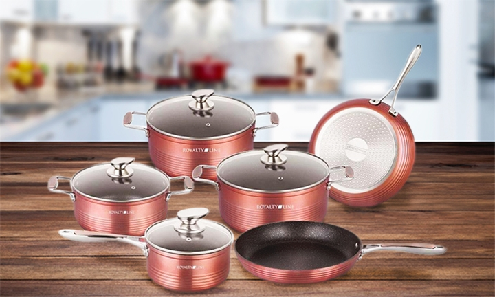 Royalty Line 10 Piece Marble Coating Cookware Set for R1299