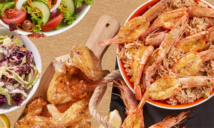 Queen Prawn and Chicken Combo to Share at Senhor Calisto's Montecasino
