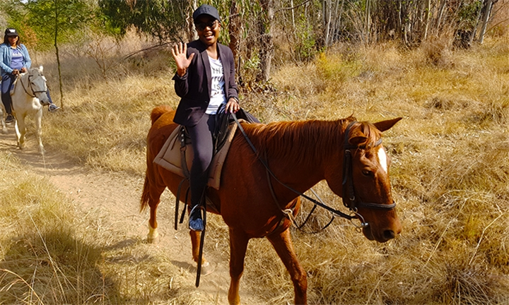 Horse Riding Experience for up to Four Including a Summer Braai at Horse Riding Adventure