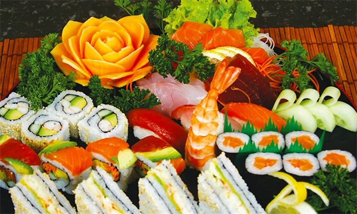 32 or 64-Piece Sushi Platter for Two or Four at Tataki Oriental Restaurant, Watermeyer