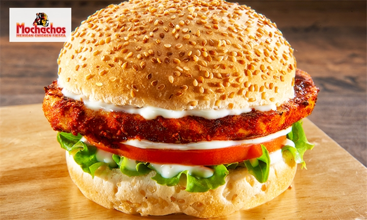 2 x Single Chicken Burgers at Mochachos – Available at 30 Branches Nationally