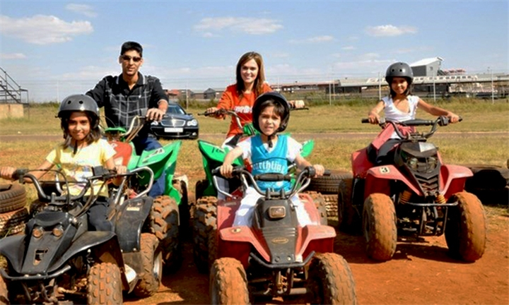 Quad Bike Ride Including Cold Drink, Crisps and Access to the Playground for up to Four Kids at Zwartkops Quad Centre