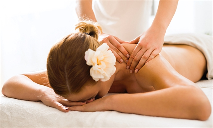 Back, Neck & Shoulder Massage Including Scrub and Choice of Deluxe Manicure or Pedicure for One or Two at Natural Body Therapy