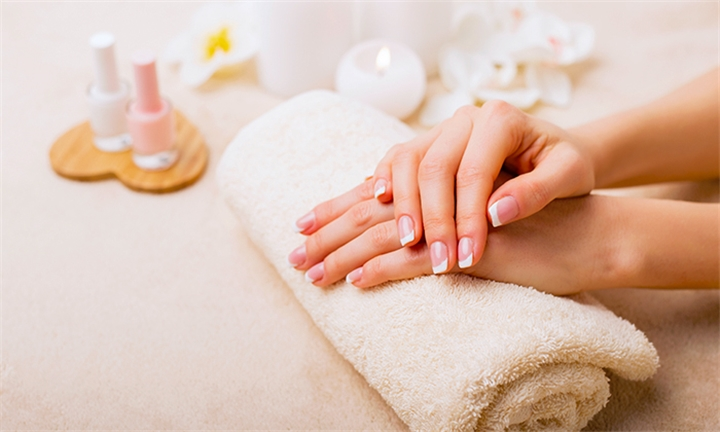 Acrylic Full Set Manicure with Pedicure and 30-Minute Foot Massage at iBeauty