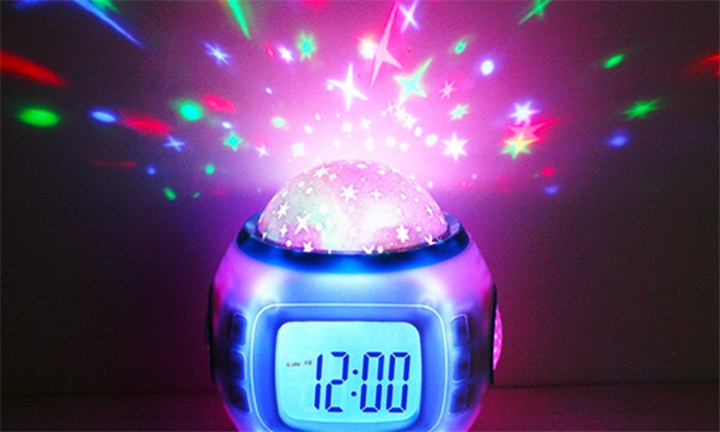 Star Sky LED Projector & Alarm Clock with Music for R199