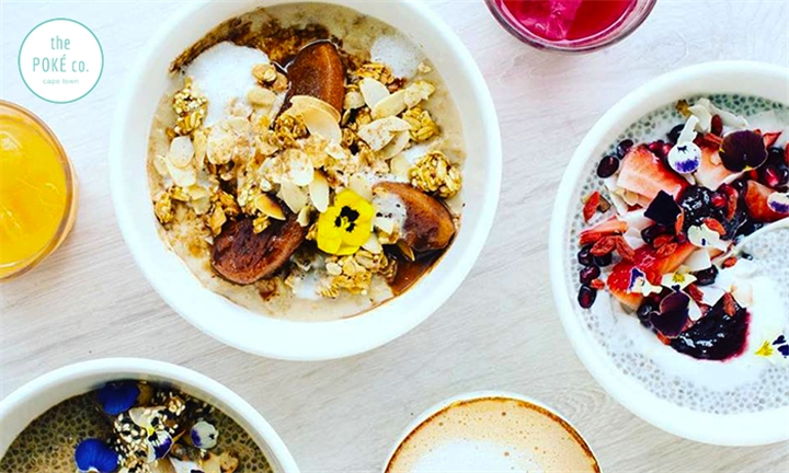 Choice of Breakfast Bowl with Coffee for up to Four at The Poké Co.