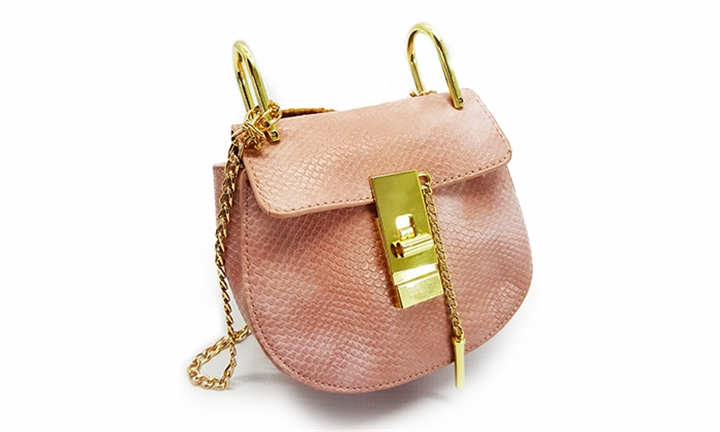 Joy Collectables Snake Skin Look Crossbody Bag in Pink for R199