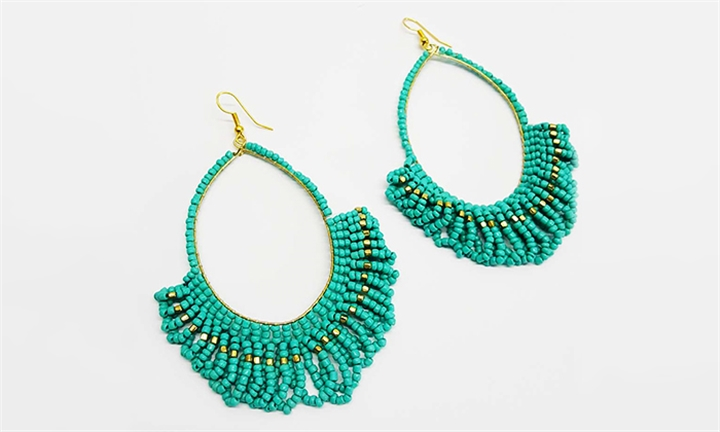 Joy Collectables Beads Earrings Turquoise for R79