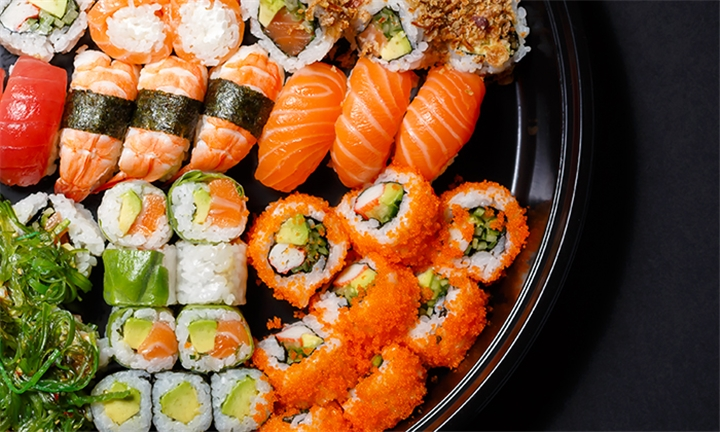 32 or 64-Piece Sushi Platter for Two or Four at Tataki Oriental Restaurant