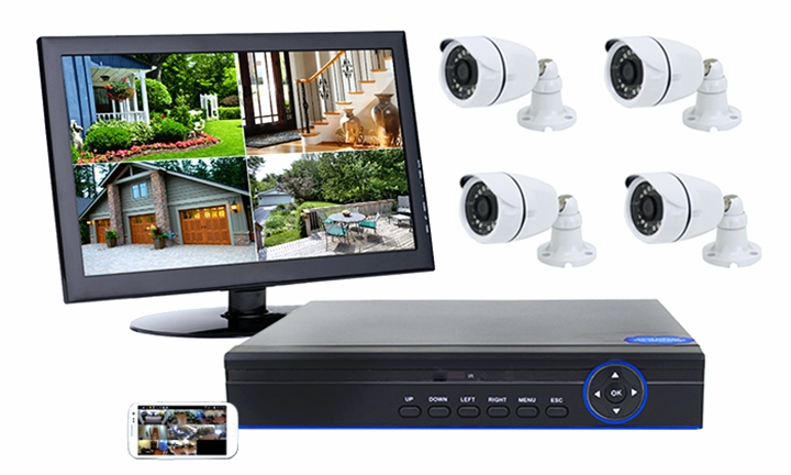 4CH AHD CCTV Kit with Internet & 4G Viewing for R1499