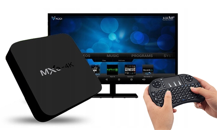 MXQ 4K OTT Android TV Streaming Media Box + Free Keyboard for R549