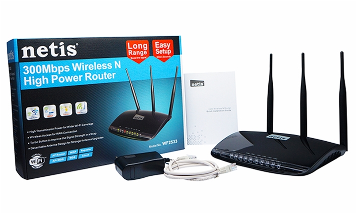 Netis 300Mbps Wireless-N High Power Router for R499