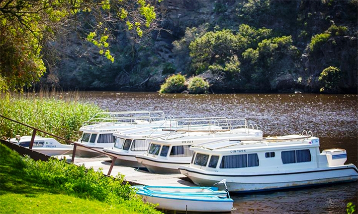 Breede River: 2-Night Midweek or Weekend Self-Catering Stay on a Houseboat for up to Five at Malagas Hotel