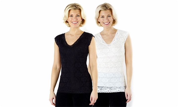Pack of 4 Sleeves Slimming Lace Tops for R349