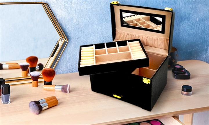 Two Tier Jewellery Box Organiser with Mirror for R299