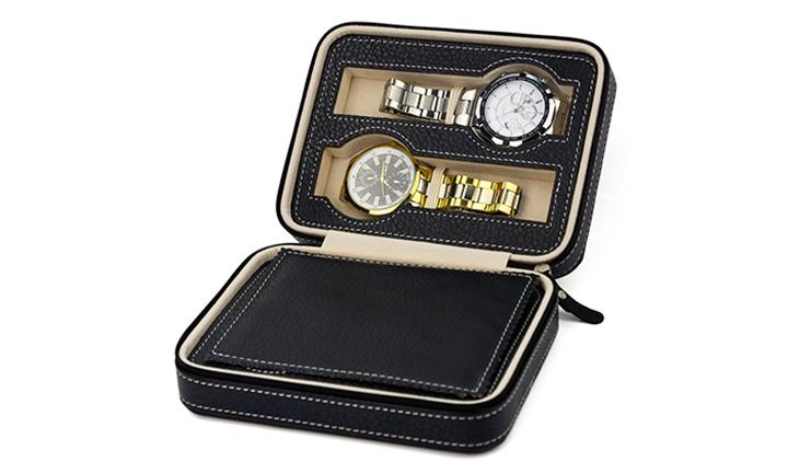 Triton Luxury PU Leather Watch Organizer Box for R199