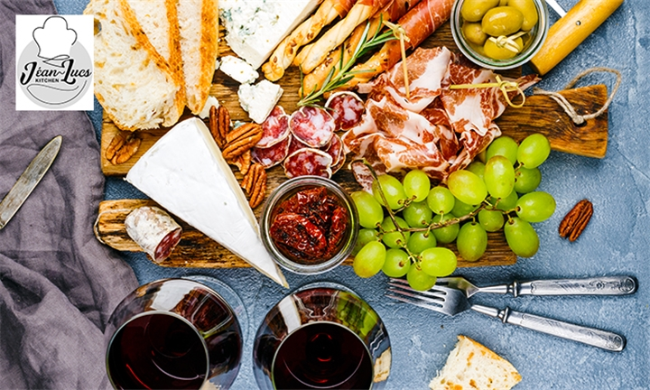 Sundowner Special: Charcuterie Platter with Bottle of Wine or Main Tasting Board & Dessert Board for Two at Jéan-Lucs Kitchen
