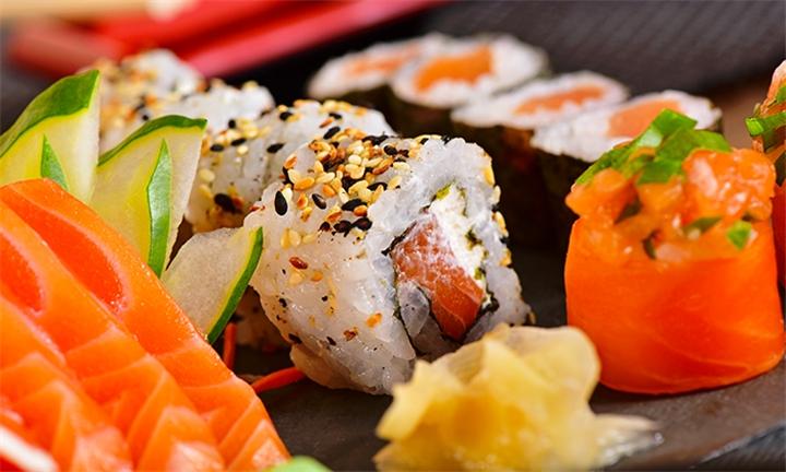 24-Piece Salmon Sushi Platter at Sogo Sushi
