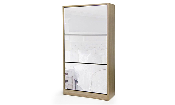 Fine Living Mirror Shoe Cabinet for R1199