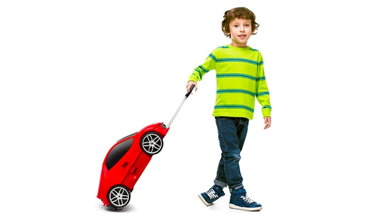 Kiddies Car Shaped Travel Trolley Case for R579