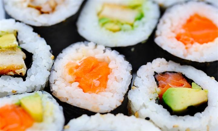 24-Piece Salmon Sushi Platter at Mongkok Chinese Restaurant