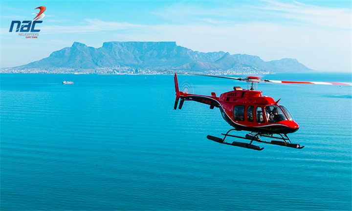 Scenic Hopper Flight with NAC Helicopters and a Choice of 2-Course Lunch or 3-Course Dinner at Either Meloncino, the Greek Fisherman or City Grill