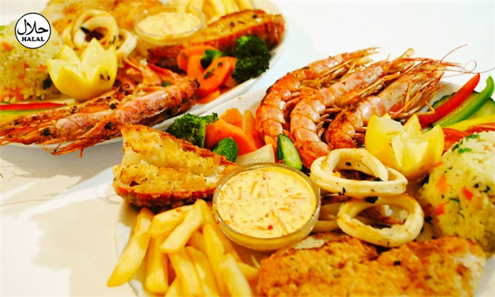 Seafood Platter or Mixed Grill for up to Four at Atlantic Express Train Restaurant