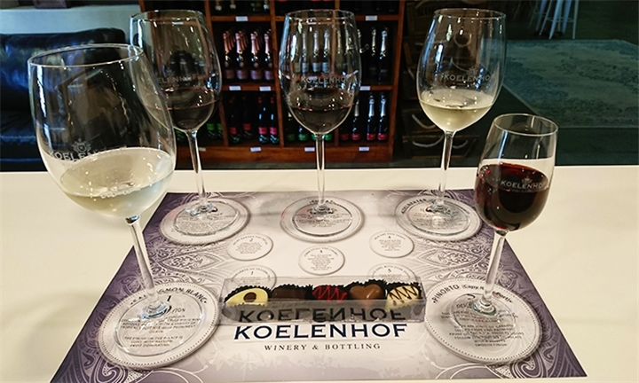 Choice of Wine Pairing Including Cellar Tour for Two at Koelenhof Wine Estate