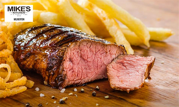 300g Rump Steak with Choice of Side for Two at Mike's Kitchen Milnerton