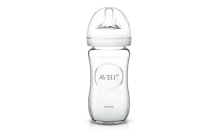 AVENT Natural Feeding Glass Bottle 1x240ml for R269