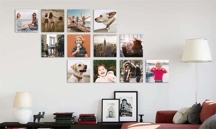 Personalised 16 Panels – 300x300 Canvas Print from Printstagram