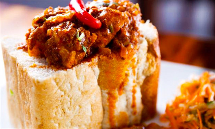 Choice of Quarter Bunny Chow with Salad Each for Two at Mistress of Spices Restaurant and Take Away
