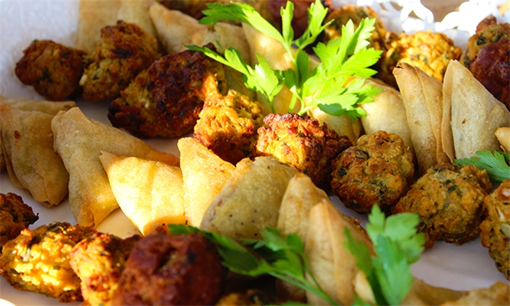 Mixed Savoury Platter to Share at Mistress of Spices Restaurant and Take Away