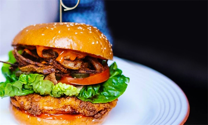 Crispy Chicken Burger for Two at Roast & Co.