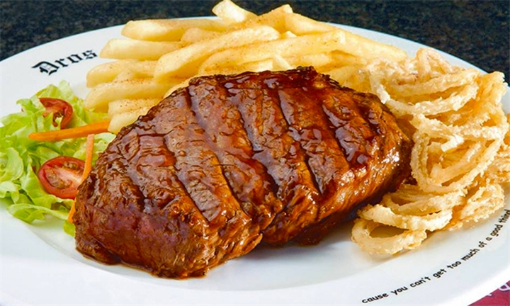Choice of 300g Rump or Sirloin Steak and Side for up to Six at Dros Sunninghill