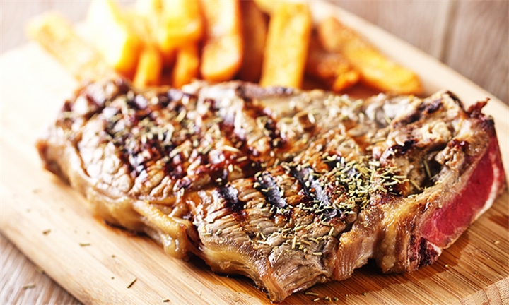 Choice of 300g Steak – T-bone, Fillet or Sirloin with Side Each for Two at Kalahari Thyme