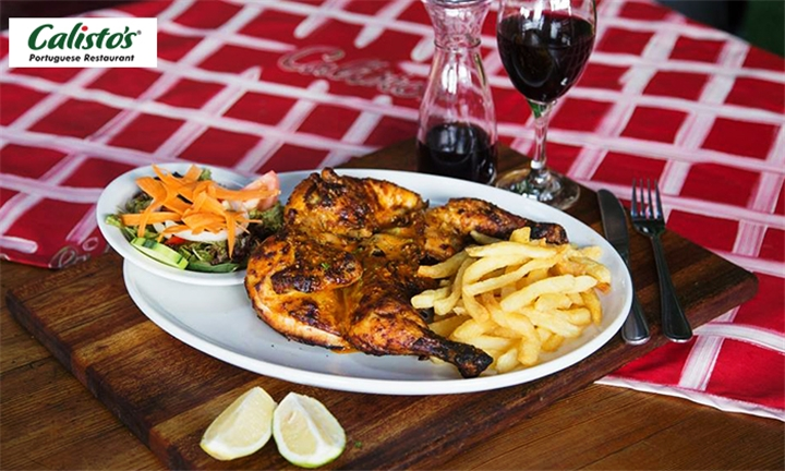 Full Chicken and Side to Share at Calistos Portuguese Restaurant, Rosebank
