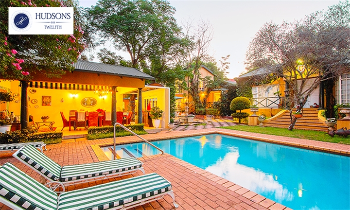 Johannesburg: 1-Night Weekend Stay for Two Including Breakfast, Wine and Turn Down at Hudsons on Twelfth