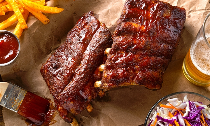 400g Pork Ribs and Choice of Side Each for up to Six at Reon's Pub & Grill