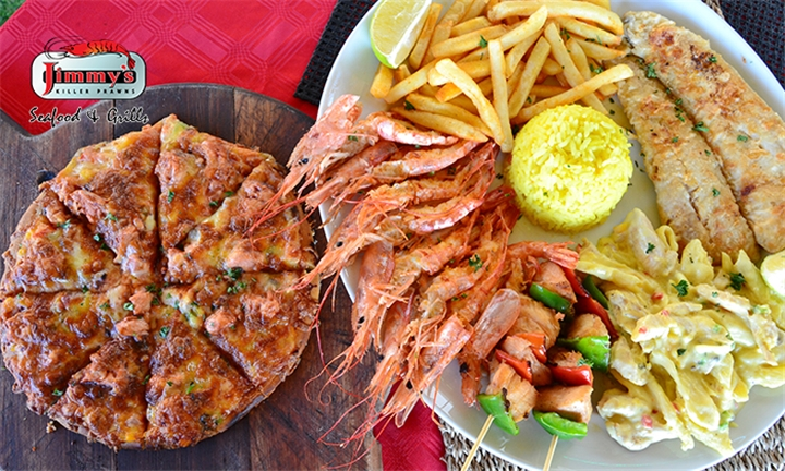 Killer Feast to Share for up to Four at Jimmy's Killer Prawns Erasmia