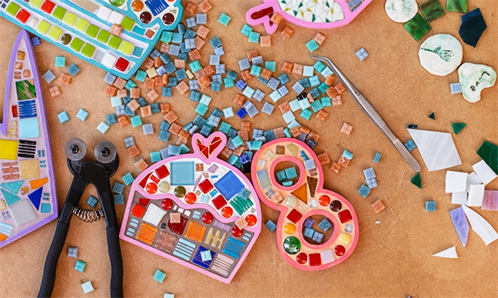 2-Hour Mosaic Workshop for up to Four at Organic Mosaics