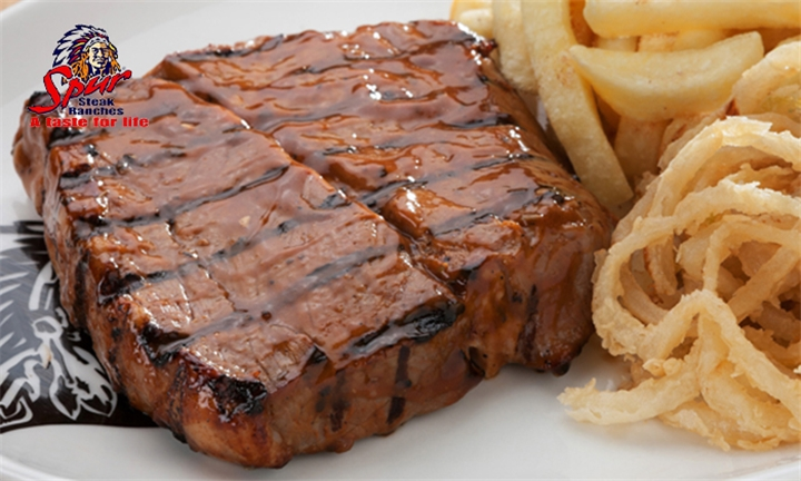200g Sirloin or Rump Steak Including Chips and Onion Rings for Two at Tomahawk Spur, Goodwood