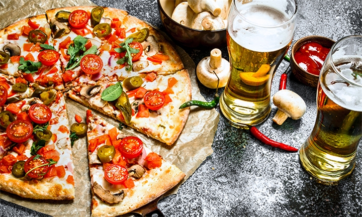 Any 2 Large Pizzas with Choice of Beverage for Two at The Mash Tun