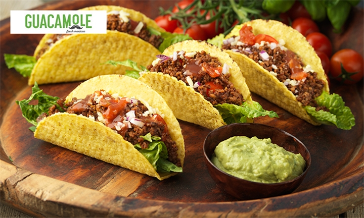 Taco Sharing Tray for up to Four at Guacamole