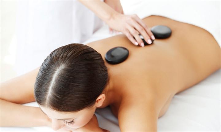50-Minute Hot Stone Back, Neck & Shoulder Massage at Ginkgo Spa