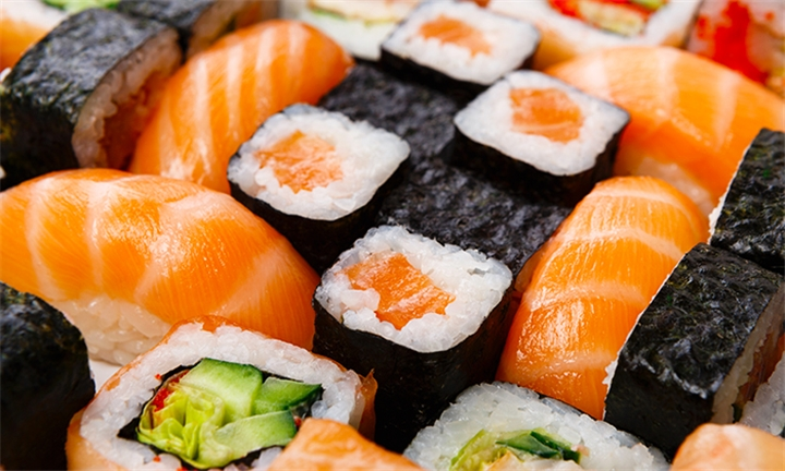 20-Piece Salmon Sushi Platter at Miyako Sushi